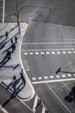 Raffic σε Plaza Espana, ένα από το σημαντικότερο τετράγωνο Στοκ εικόνα με δικαίωμα ελεύθερης χρήσης