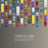 Raffic jam on the road Stock Photography