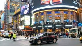 Raffic at midtown in Manhattan. New York City, USA - Apr 2018: traffic at midtown in Manhattan stock video