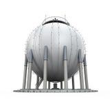 Raffinaderi för gaslagring stock illustrationer
