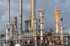 raffinaderi för industrioljeväxt fotografering för bildbyråer