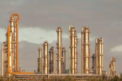 raffinaderi för petrochemical för destillationindustriolja Fotografering för Bildbyråer