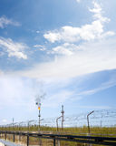 raffinaderi för växt för industrioljepetrochemical Royaltyfria Bilder