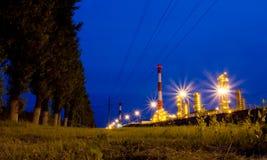 Raffinaderi. Ryssland Yaroslavl Royaltyfri Fotografi