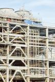Raffinaderifabrik med LNG Arkivbilder