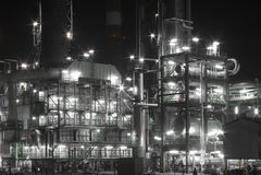 Raffinaderij stock fotografie