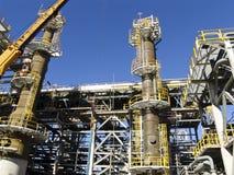 Raffinaderij in aanbouw Royalty-vrije Stock Foto's