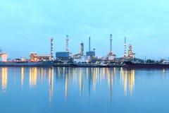 Raffinaderijinstallatie Royalty-vrije Stock Afbeelding