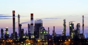 Raffinaderijpanorama royalty-vrije stock foto's