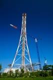 Raffineria - accensione di gas di olio Fotografia Stock Libera da Diritti