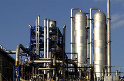 Raffineria del gas Immagine Stock Libera da Diritti
