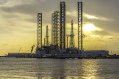 Raffineria del gas e del petrolio Fotografia Stock Libera da Diritti