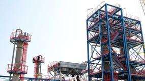 Raffineria del gas e del petrolio Immagine Stock Libera da Diritti