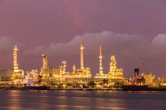 Raffineria dell'olio di petrolio Fotografia Stock