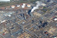 Raffineria di Bayway in Elizabeth, New Jersey, U.S.A. Fotografia Stock Libera da Diritti