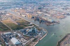 Raffineria di Oporto Marghera. L'Italia. Fotografia Stock Libera da Diritti
