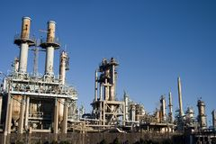 Raffineria di petrolio 2 Fotografie Stock Libere da Diritti