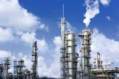 Raffineria di petrolio Fotografie Stock
