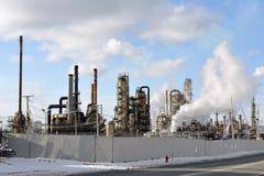 Raffineria di petrolio brutta Fotografia Stock
