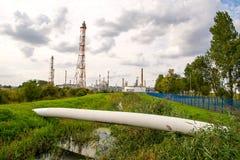 Raffineria di petrolio di Danzica Immagine Stock
