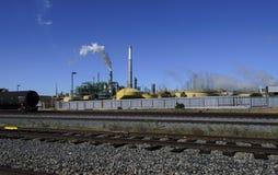 Raffineria di petrolio e del gas Immagini Stock