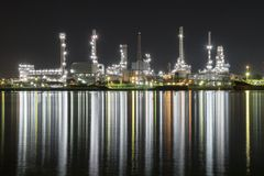 Raffineria di petrolio Tailandia immagini stock libere da diritti