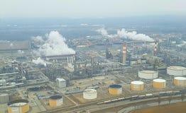 Raffineria di petrolio a Vienna Immagine Stock