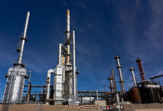 Raffineria occupata della fabbrica Immagini Stock Libere da Diritti