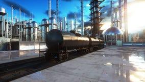 raffinerie Öl, petrolium Anlage Metal Rohr Wiedergabe 3d Lizenzfreies Stockfoto