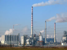 Raffinerie. Images libres de droits