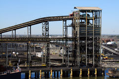 Raffinerie de charbon Photographie stock