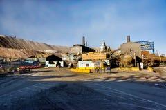 Raffinerie de mine de cuivre Images libres de droits