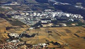 Raffinerie de pétrole Photo libre de droits