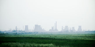 Raffinerie de pétrole Photos libres de droits