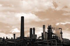 Raffinerie de pétrole Image libre de droits