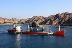 Raffinerie de pétrole au Foudjairah Photographie stock libre de droits