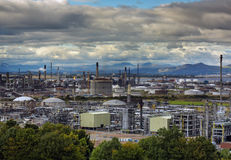 Raffinerie de pétrole au R-U Photos stock
