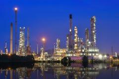 Raffinerie de pétrole et de gaz Images libres de droits