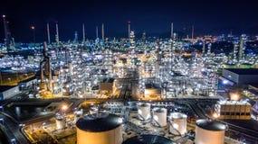 Raffinerie de pétrole de vue aérienne Photos libres de droits