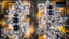 Raffinerie de pétrole de vue aérienne Images stock