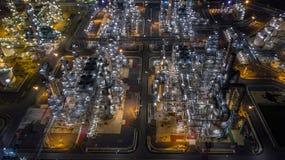 Raffinerie de pétrole de vue aérienne Image stock