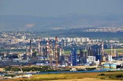 Raffinerie di petrolio srl a Haifa, Israele fotografia stock libera da diritti