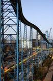 Raffinerie industrielle bleue Photos libres de droits