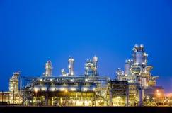 Raffinerie la nuit 5 Photo libre de droits