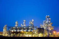 Raffinerie nachts 5 lizenzfreies stockfoto