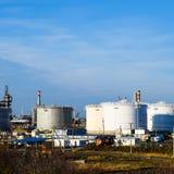 raffinerie Réservoirs pour le stockage des produits de raffinerie Rectifica photos libres de droits