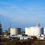 raffinerie Réservoirs pour le stockage des produits de raffinerie Rectifica images libres de droits