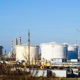 raffinerie Réservoirs pour le stockage des produits de raffinerie Rectifica image stock