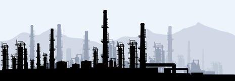 Raffinerie-vecteur de pétrole et de gaz Photographie stock libre de droits