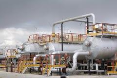 Raffineriemitte Lizenzfreie Stockfotos